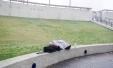 Homeless man sleeps outside Long Beach City Hall on Valentine's Day, 2016.